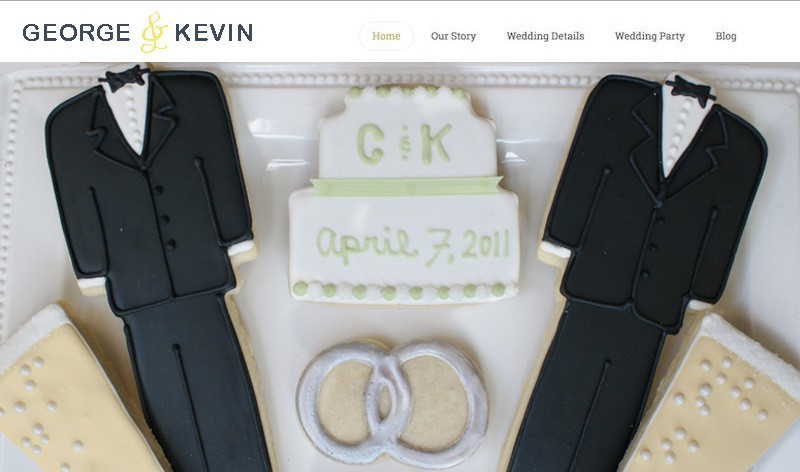 Get  your own personally designed  wedding site from 3 in 1